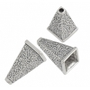 SS.925 Cone Square Hammered 20mm